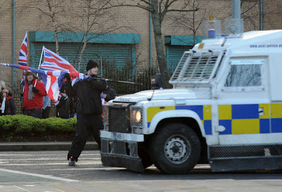 Violence in Belfast over union flag continues (Photo: Broadsheet)