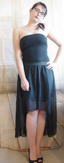 Outfit Black Vokuhila Skirt