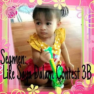 suspen, like lynn munir, lyn munir buat contest, baby, contest baby di facebook, facebook, contest