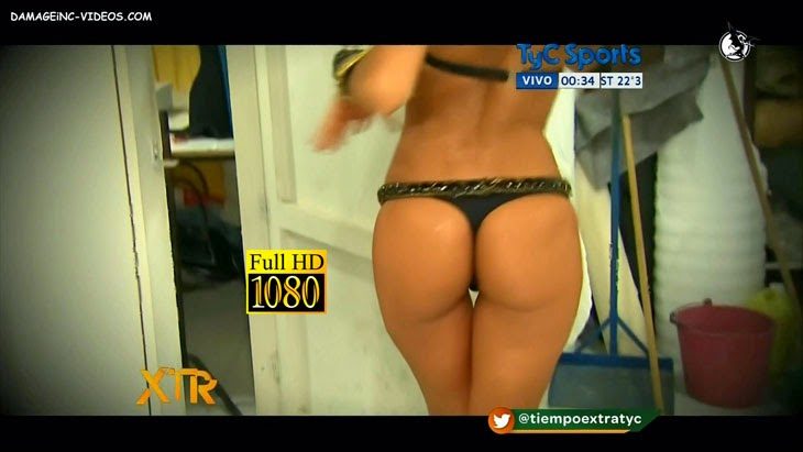 Argentina model Evangelina Carrozzo perfect booty in thong HD video