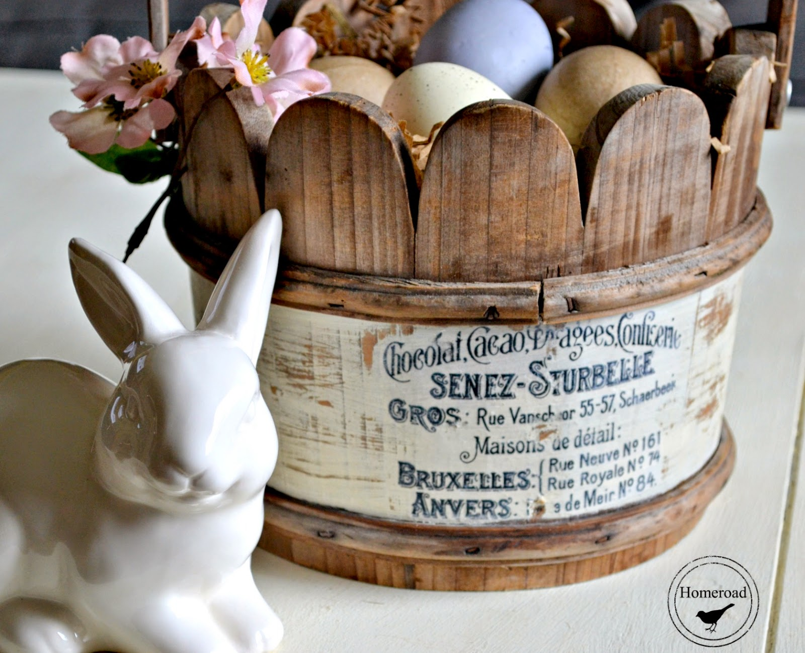 Wooden Easter Basket and a Transfer www.homeroad.net