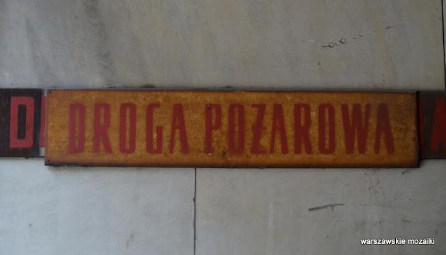 Warszawa Wola droga pożarowa Ogrodowa sądy