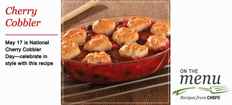 http://www.chefscatalog.com/recipe/detail/1017-cherry-almond-drop-biscuit-cobbler.aspx?sourcecode=FW2SM1093