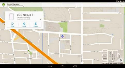 Aplikasi Android Device Manager