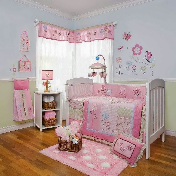 Baby nursery wall paint ideas Baby girl room ideas