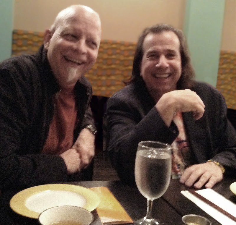 MB Gordy and Bob Fernandez waiting for dinner in 2015