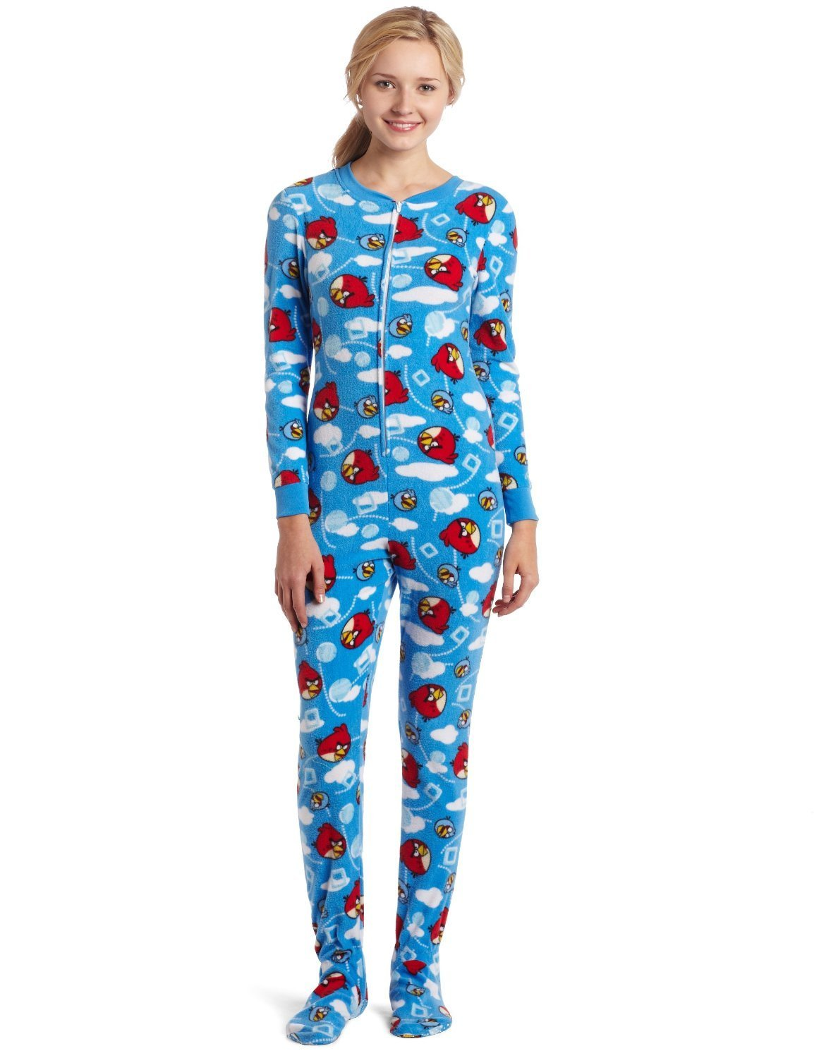 Onesies footie pajama angry bird girls teens for women blue