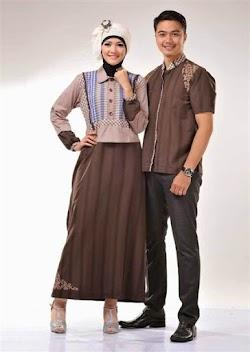 21 Model Baju Muslim Couple Modern Terbaru 2017/2018