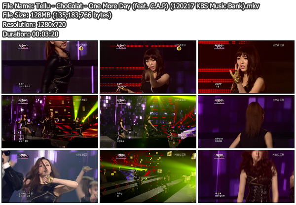 [Perf] ChoColat   One More Day (feat. C.A.P) @ KBS Music Bank 120217