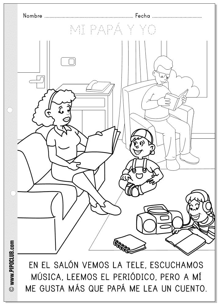 Juegos educativos pipo el d a del padre for Living room y sus partes