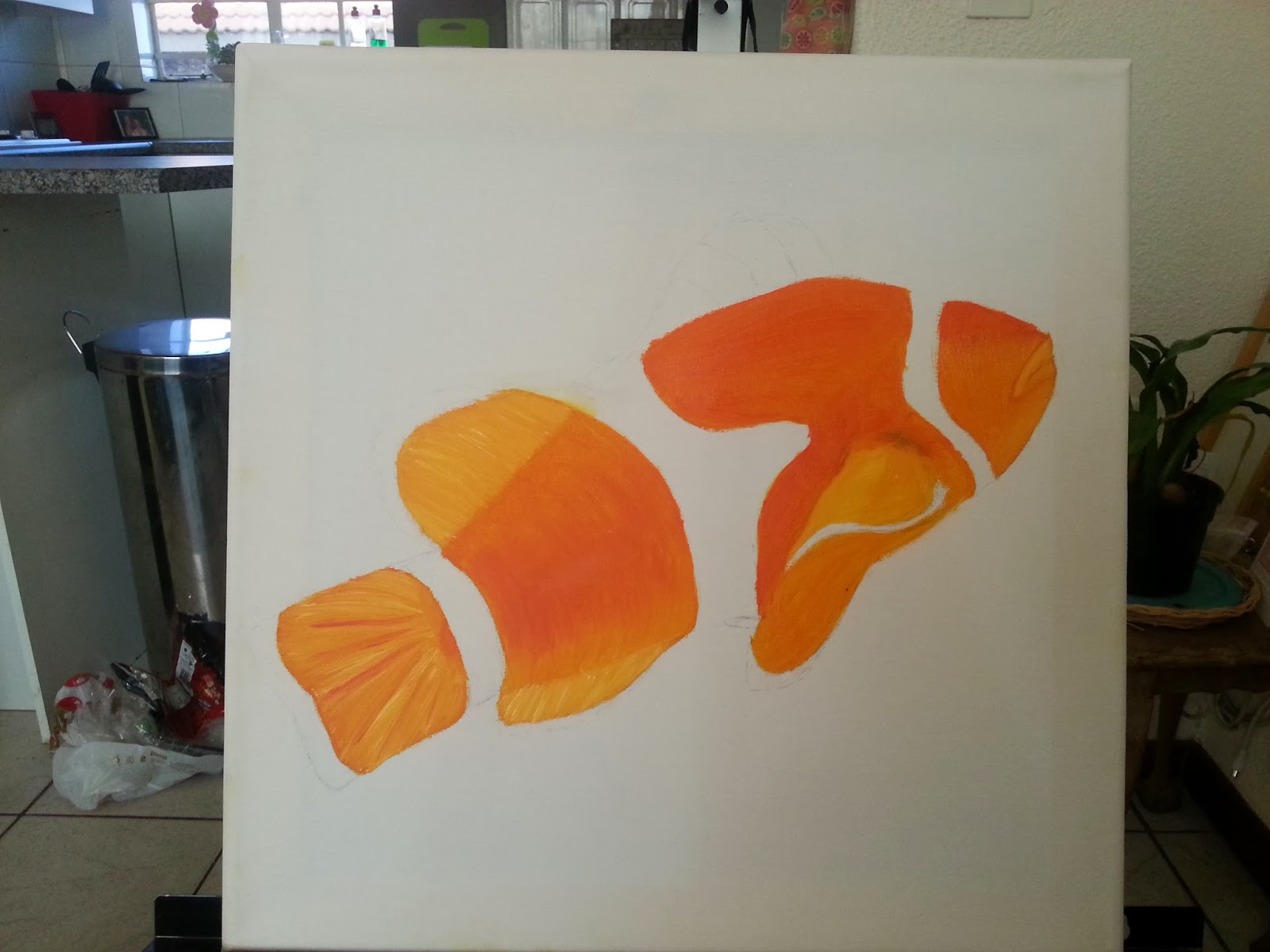 How to paint a clown fish 2