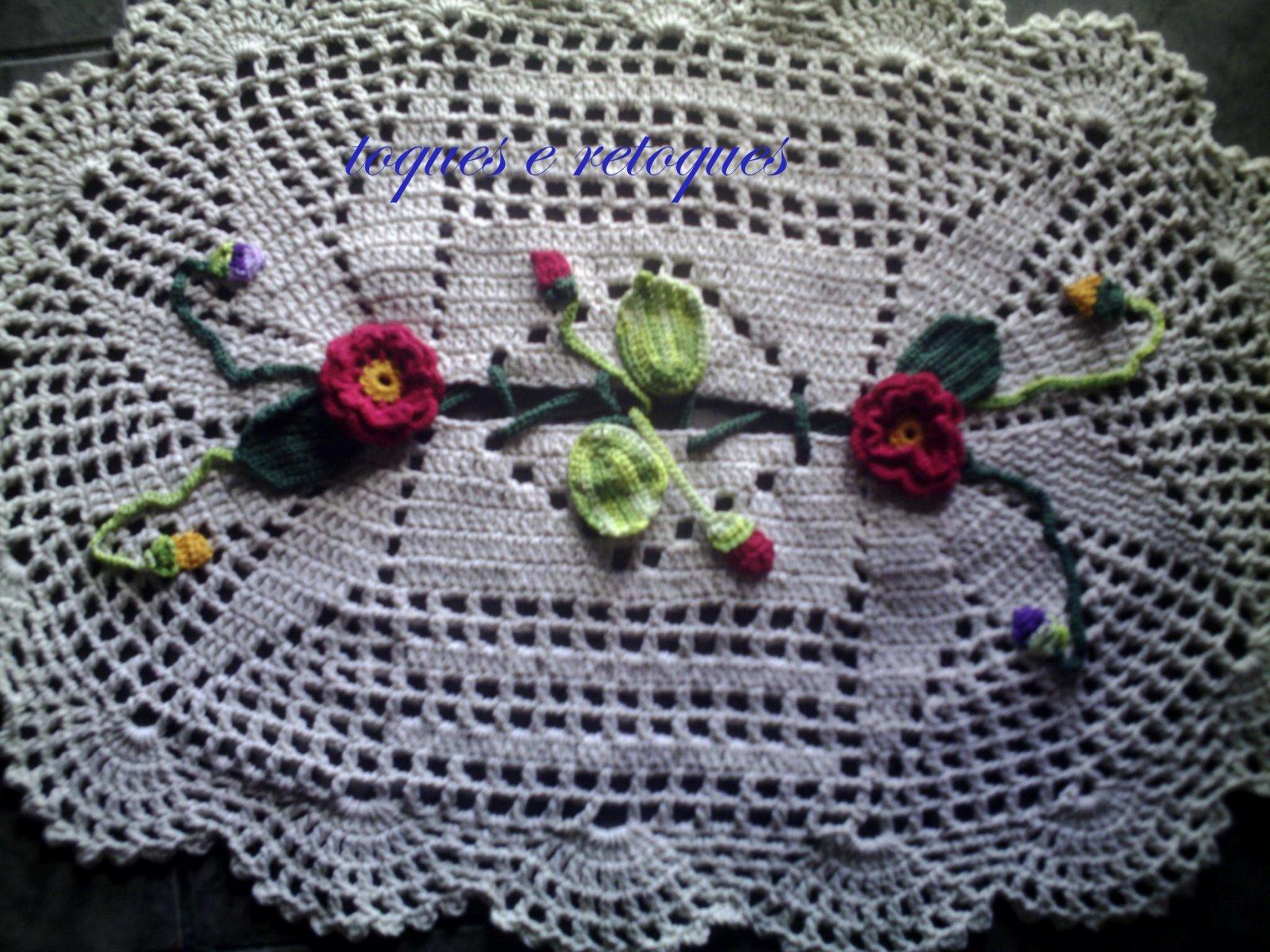 Pin Tapete Flores Croche Barbante Banheiro Decorado Genuardis Portal on Pinte -> Banheiro Decorado Com Croche