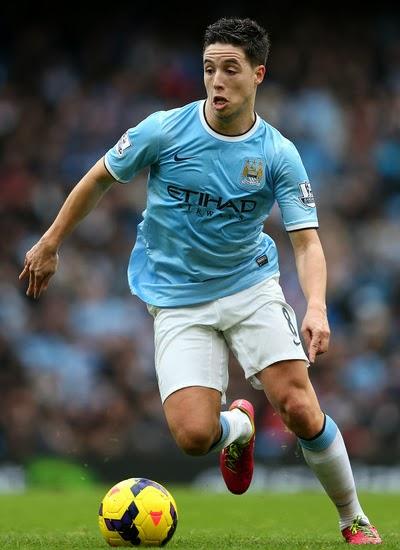 Samir Nasri Manchester City Winger 20132014