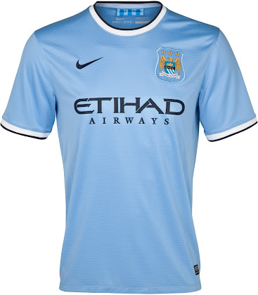 Nike Manchester City 13-14 (2013-14) Home and Away Kits Released