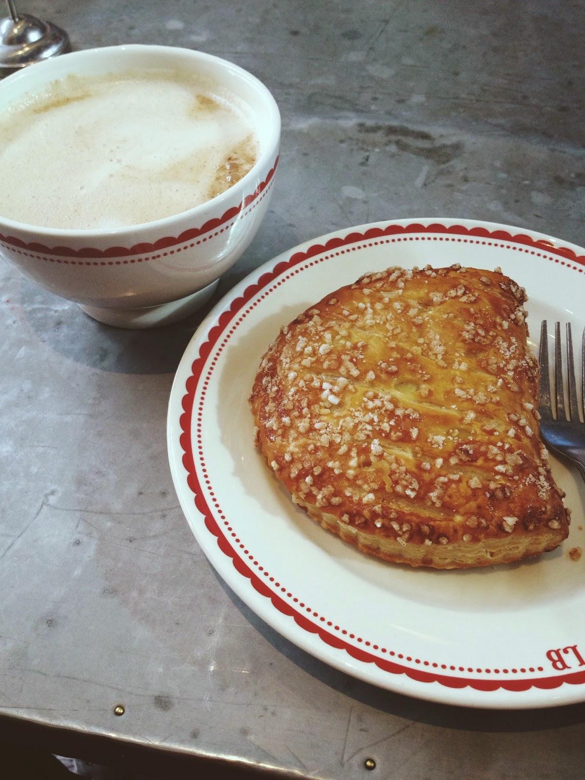 La Boulange: Lemon Turnover and Chai Tea Latte