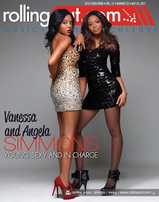 >Angela & Vanessa Simmons en couv' de Rolling Out magazine