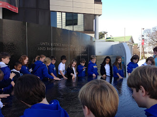 Montgomery Catholic 4th graders visit the Civil Rights Memorial Center 1