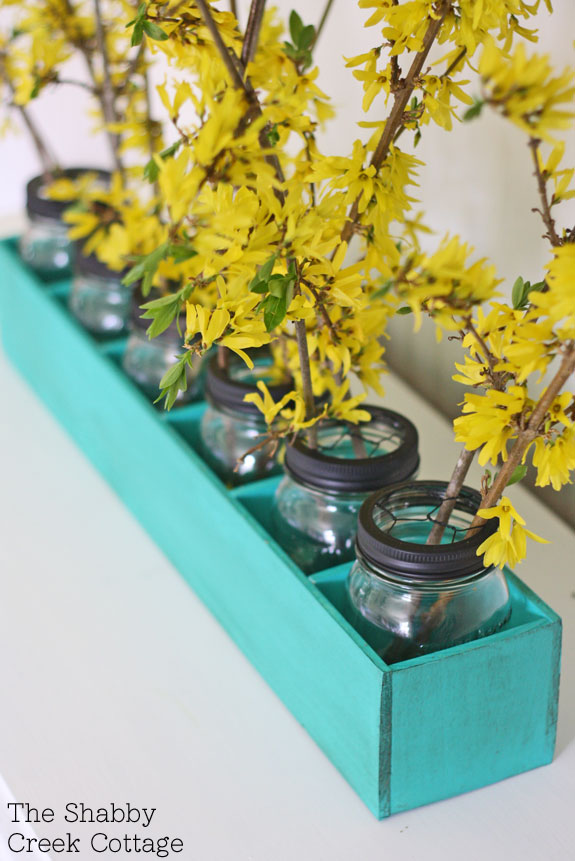Mason Jar Flower Box