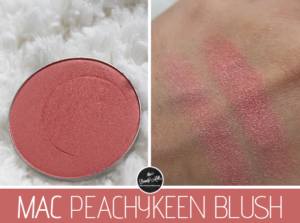 mac peachykeen blush review swatch