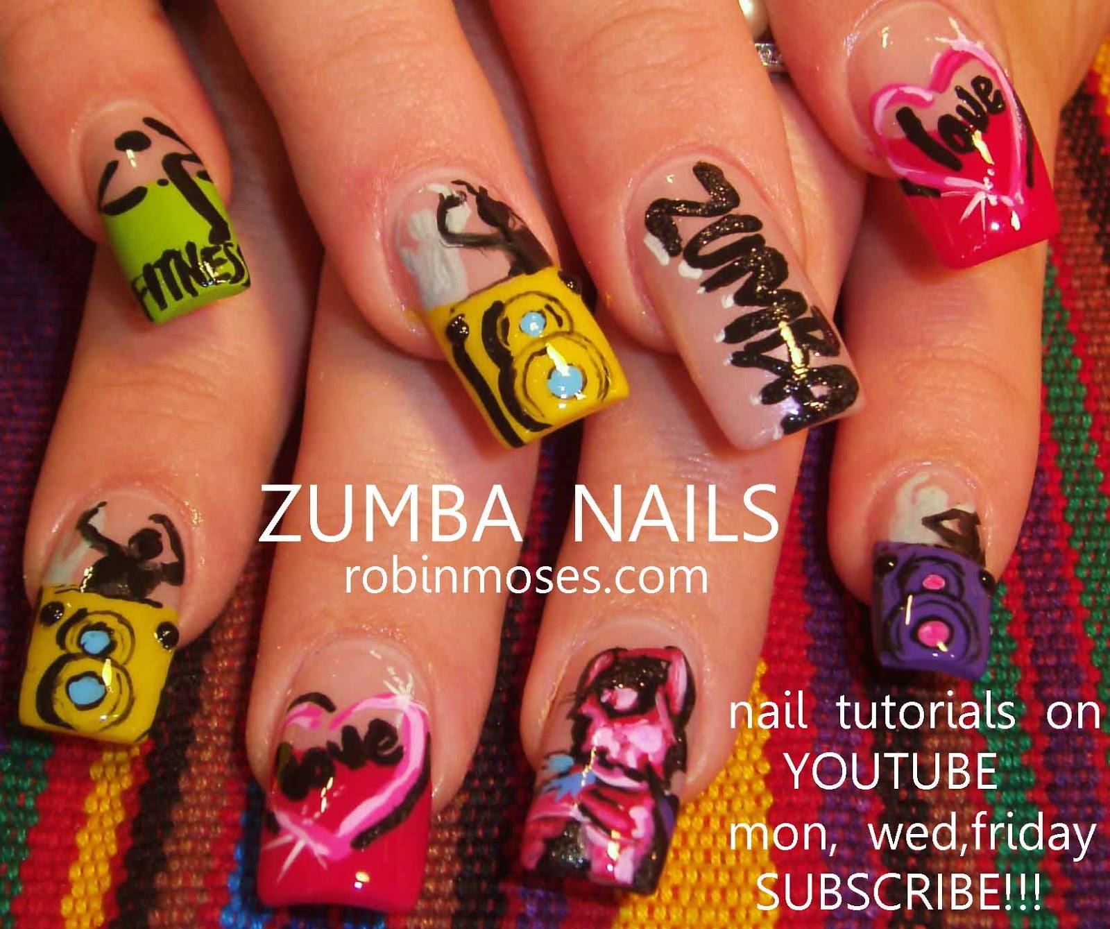 zumba, zumba nail art, zumba nails, healthy nails, extra long nails ...
