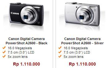 Harga Kamera Canon Powershot A2600