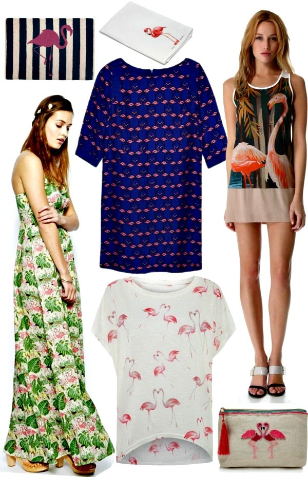 Flamingo Print Clothes