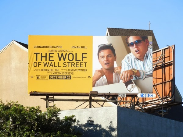 Wolf of Wall Street billboard ad