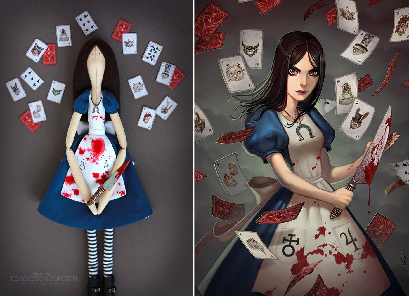 American McGee's Alice Doll. Кукла Алиса в Стране Чудес.