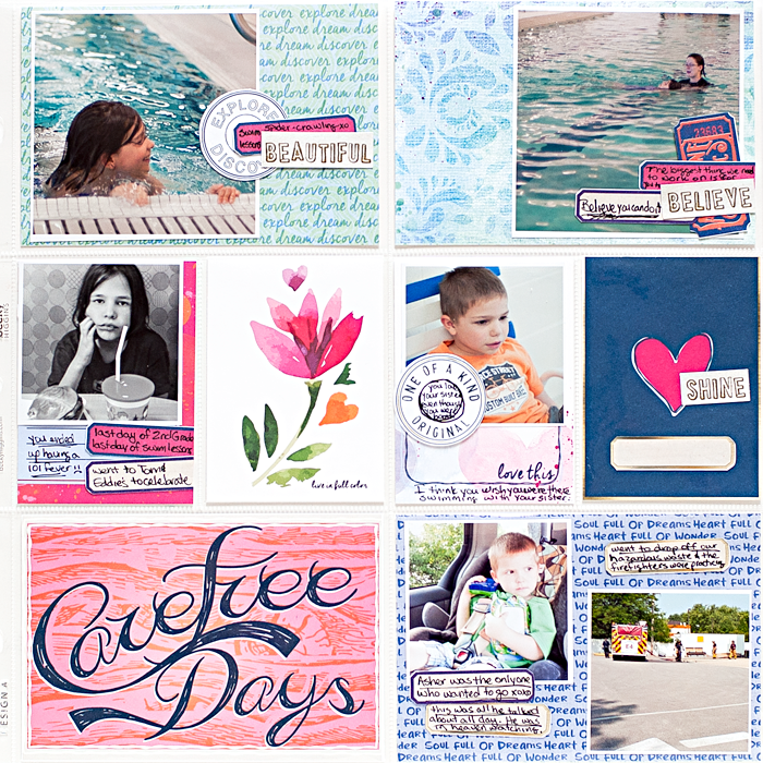 Heather Greenwood Designs | Project Life® Week 31 | weekly hybrid pocket scrapbook album