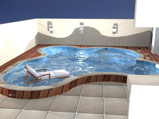 arq karol reiter uma pequena piscina e um grande conforto