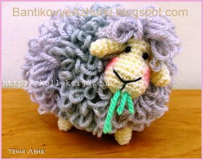 вязанная овца