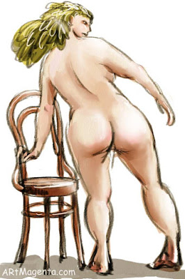 Chair no. 14 is a life drawing sketch by artist and illustrator Artmagenta