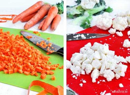Karotten und Blumenkohl