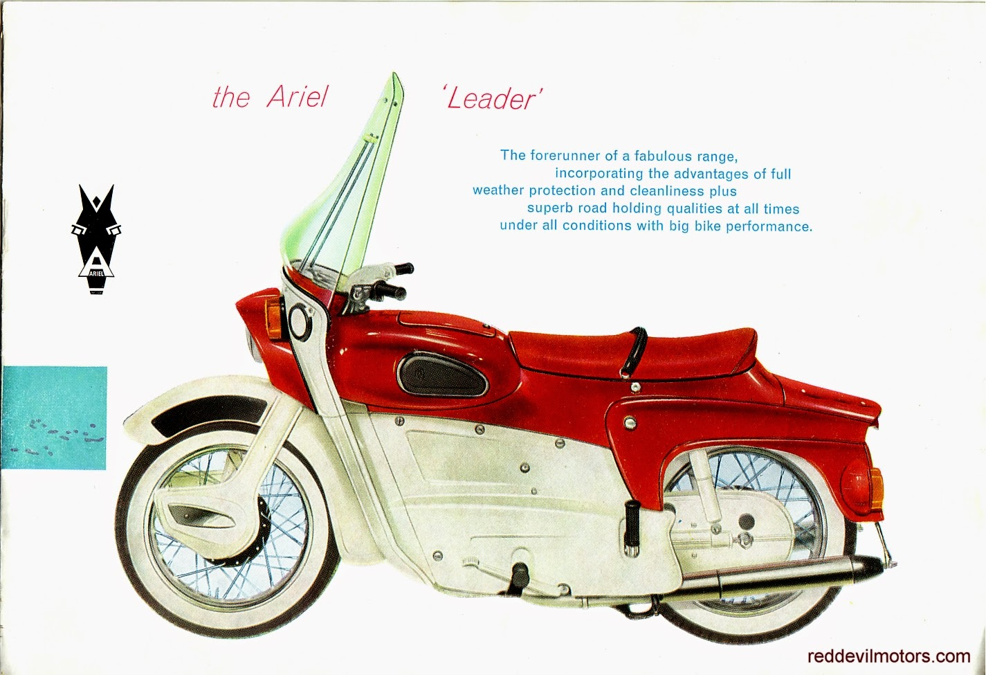 Ariel Arrow and Leader brochure page 2