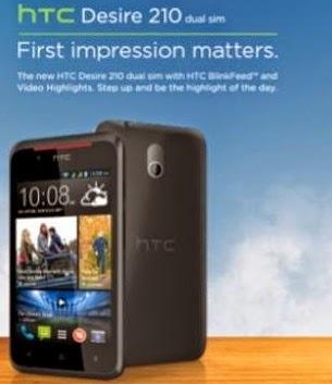 Dual Core HTC Desire 210 Price in India Specs features