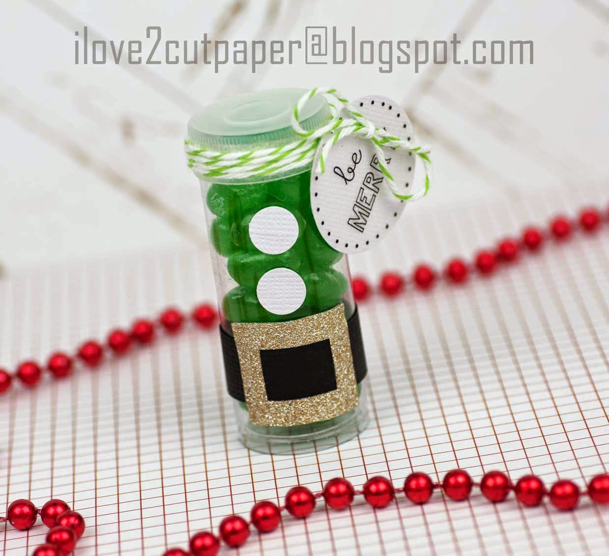 Elf Candy Tube gift idea