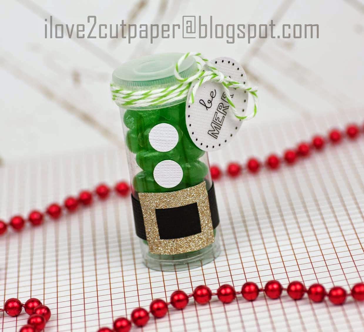Elf Candy Tube gift idea
