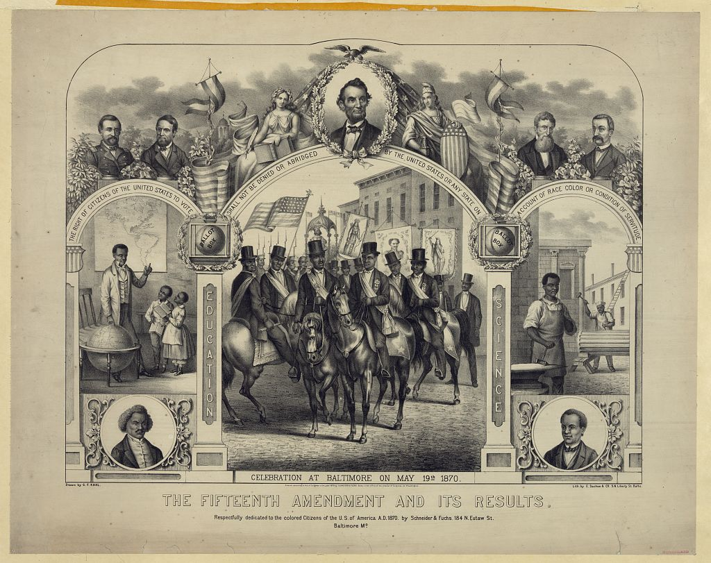 photo: BlackUSA) 1870 Congress ratified the 15th Amendment, giving ...