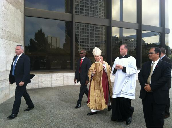 ... this afternoon by Archbishop Salvatore Cordileone of San Francisco: