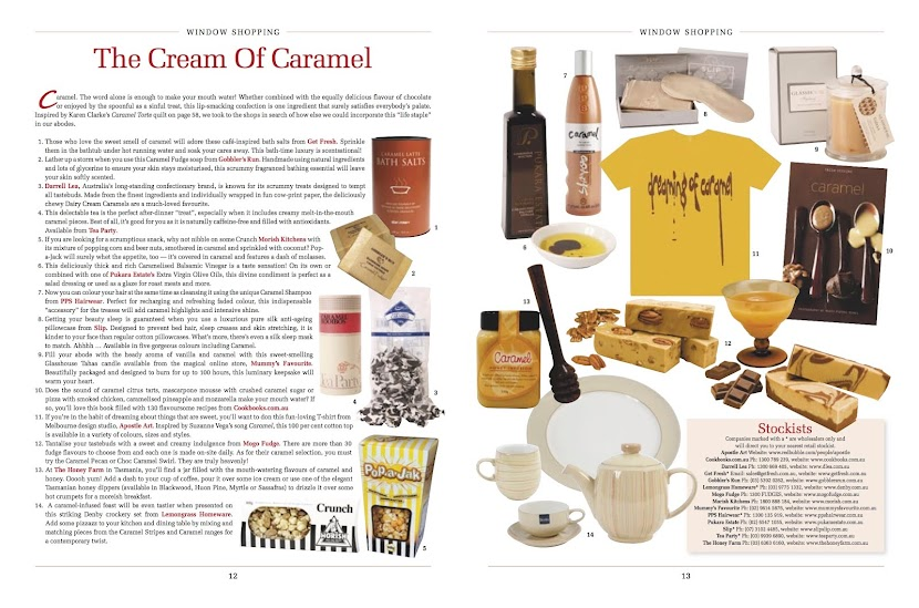 dreaming of caramel T (as it appeared in Homespun mag Oct 2009)