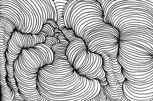 Line Drawing Lessons : Drawing cross contour lines