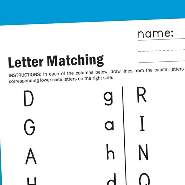Letter Matching Worksheet Worksheets For Children