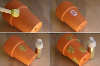 Reciclatex Cómo decorar macetas con purpurina regalos fáciles y baratos