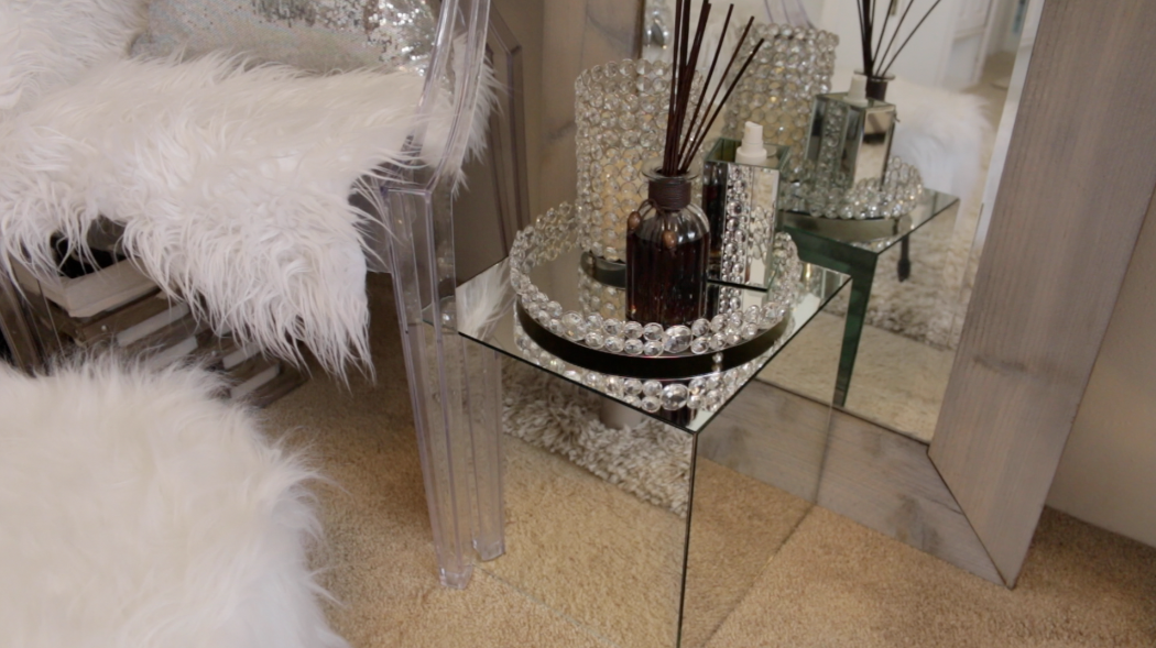 DIY Mirrored Accent Tables