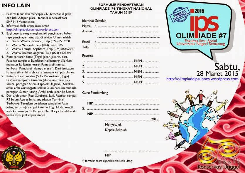 Brosur Olimpiade IPS SMP Tahun 2015