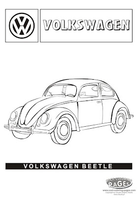 Cartoon Design: Herbie Movie | Car Coloring Pages