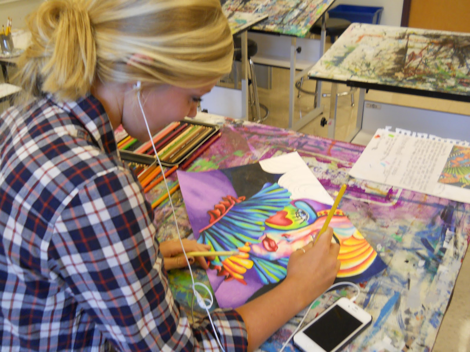 High school art project pinterest pinterest elementary for School art and craft