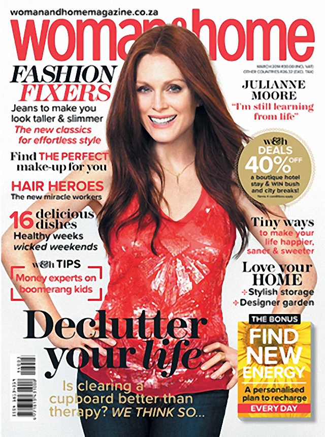 Julianne Moore en Woman & Home