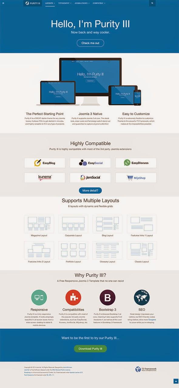 Best Free Responsive Joomla Templates 2014