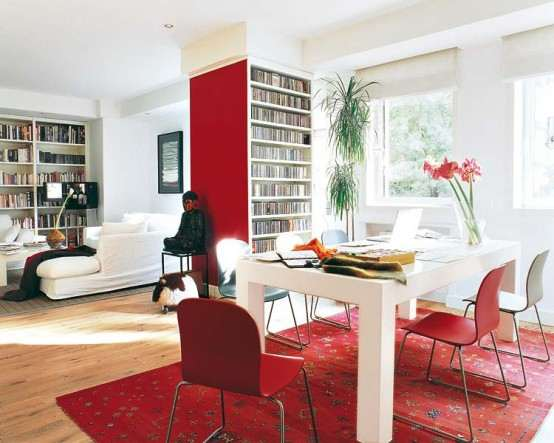 decorar con rojo